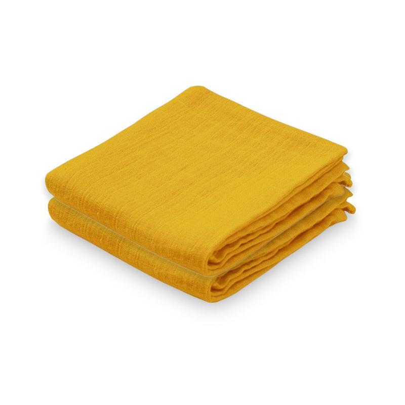 CamCam® Komplet tetra pleničk Mustard 70x70