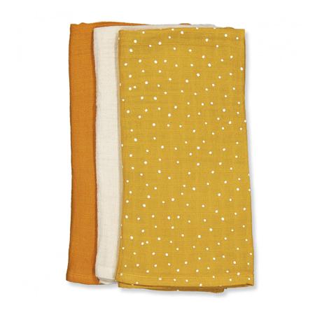 Liewood® Set treh muslin pleničk Confetti Yellow Mellow Mix 60x60