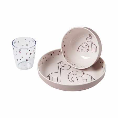 Slika Done by Deer® Yummy Set za hranjenje Dreamy dots Powder