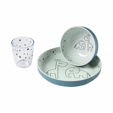 Done by Deer® Yummy Set za hranjenje Dreamy dots Blue