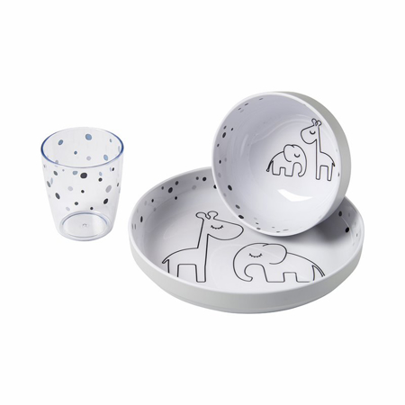 Slika Done by Deer® Yummy Set za hranjenje Dreamy dots Grey