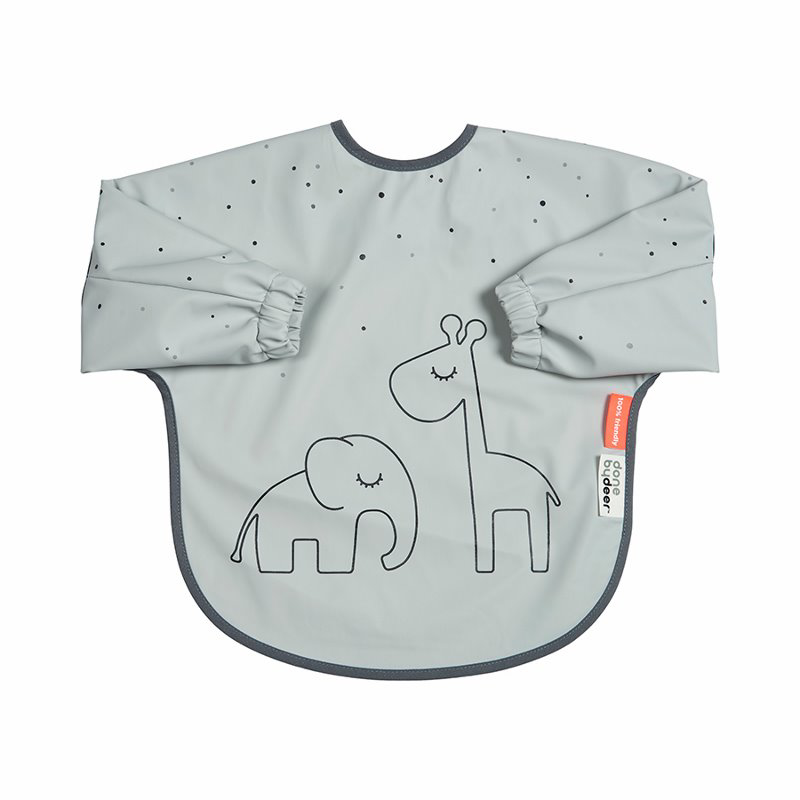 Done by Deer® Slinček z rokavi Dreamy dots Grey 6-18m