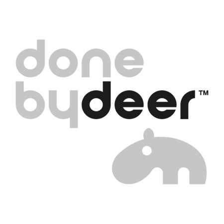 Done by Deer® Jedilni set za malčke Happy dots Grey