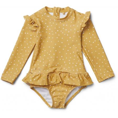 Slika Liewood® Otroške enodelne kopalke Sillie Confetti Yellow Mellow