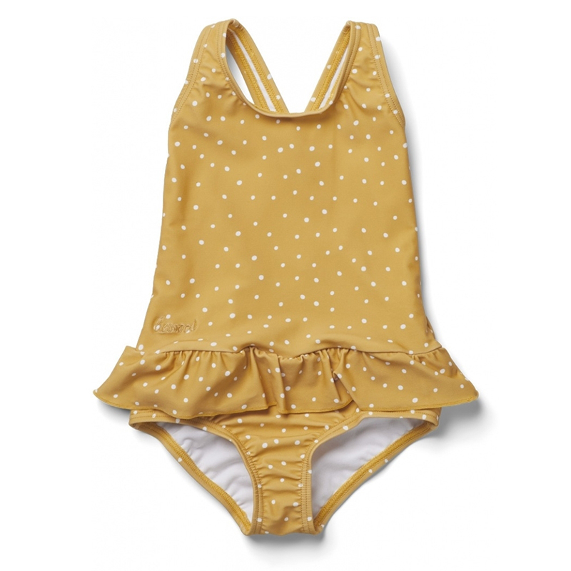 Liewood® Otroške enodelne kopalke Amara Confetti Yellow Mellow
