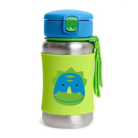 Slika Skip Hop® Steklenička iz nerjavečega jekla s slamico Dinozaver