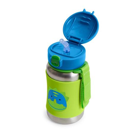 Skip Hop® Steklenička iz nerjavečega jekla s slamico Dinozaver