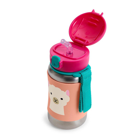 Skip Hop® Steklenička iz nerjavečega jekla s slamico Lama