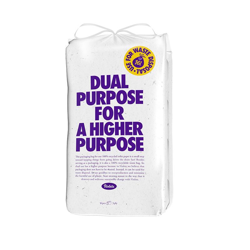 Violeta® Eco toaletni papir Dual Purpose 16/1 3SL