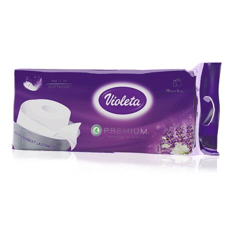 Slika Violeta® Toaletni papir Premium Sivka 10/1 3SL
