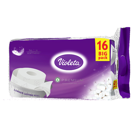 Violeta® Toaletni papir Premium Bombaž 16/1 3SL