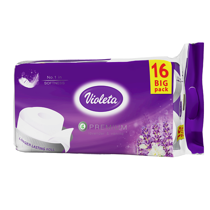 Violeta® Toaletni papir Premium Sivka 16/1 3SL