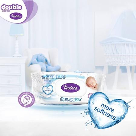 Violeta® Otroški vlažni robčki Water Care 3x56/1