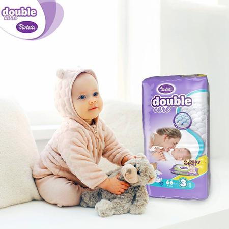 Slika Violeta® Plenice AirCare 3 Midi (4-9kg) Jumbo 66+Darilo Baby vlažni robčki