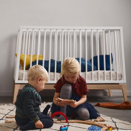 Leander® Otroška postelja Luna™ 120x60 cm White/Oak