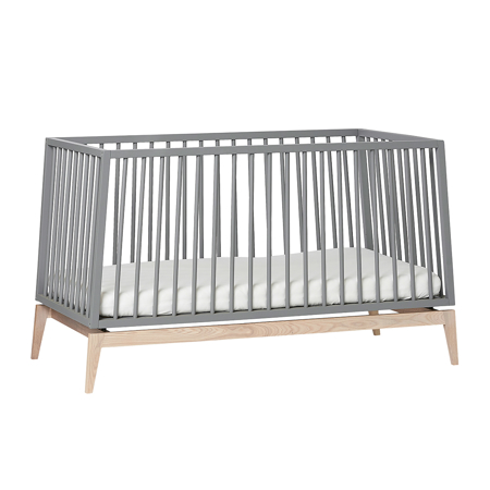 Slika Leander® Otroška postelja Luna™ 140x70 cm Grey/Oak