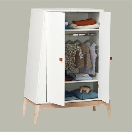 Slika Leander® Otroška omara Luna™ Small White/Oak