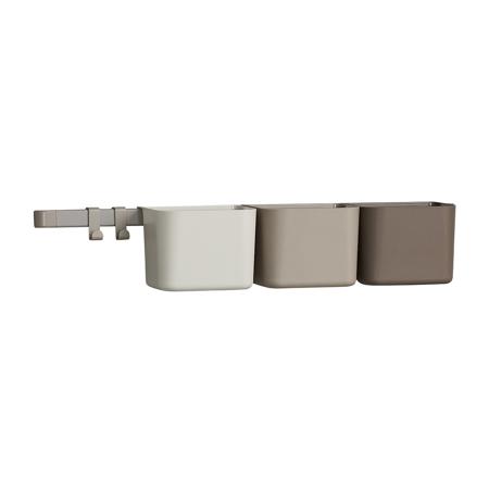 Slika Leander® 3x organizatorji in 1x daljši nosilec Cappuccino