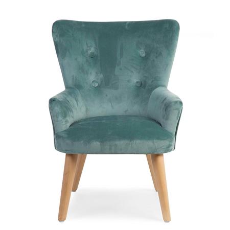 Slika Childhome® Otroška zofa fotelj Childhome Green Velvet