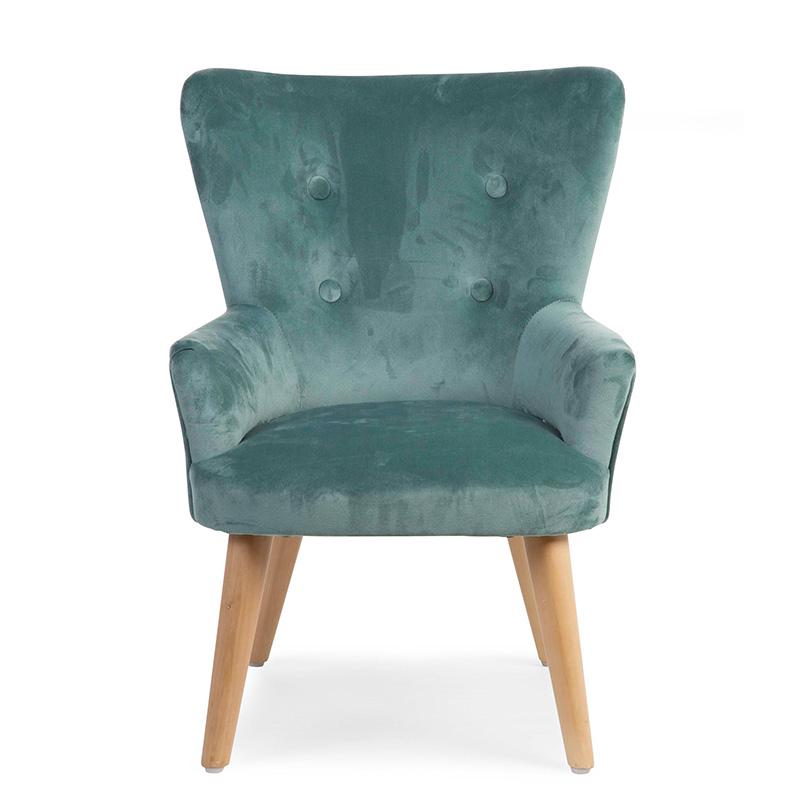 Childhome® Otroška zofa fotelj Childhome Green Velvet