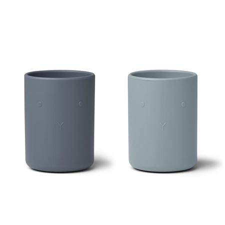 Liewood® Set dveh silikonskih skodelic Ethan Blue Mix