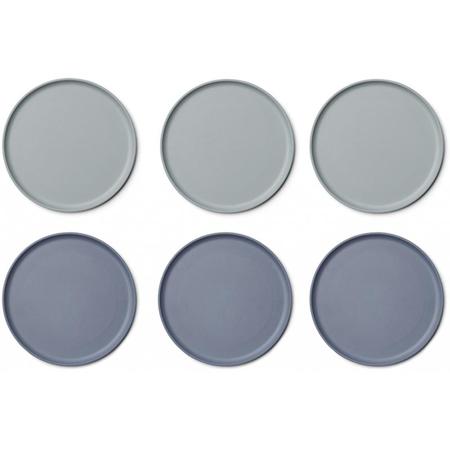 Slika Liewood® Set 6 krožnikov Bambo Patrick Blue Mix
