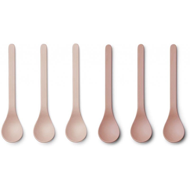 Liewood® Set 6 bambusovih žličk Etsu Coral Blush Mix
