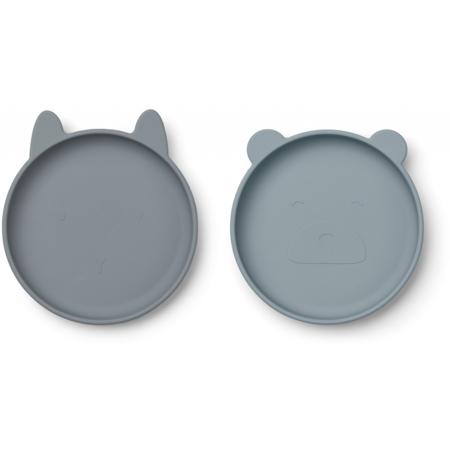 Slika Liewood® Komplet silikonskih krožnikov Olivia Blue Mix