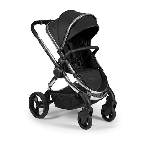 Slika iCandy® Otroški voziček s košaro 2v1 Peach s kromiranim ogrodjem Chrome Black Twill