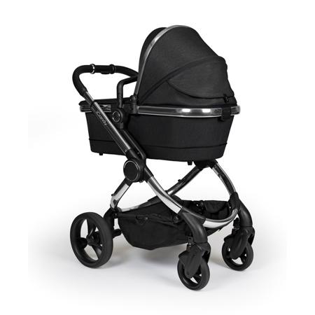 iCandy® Otroški voziček s košaro 2v1 Peach s kromiranim ogrodjem Chrome Black Twill
