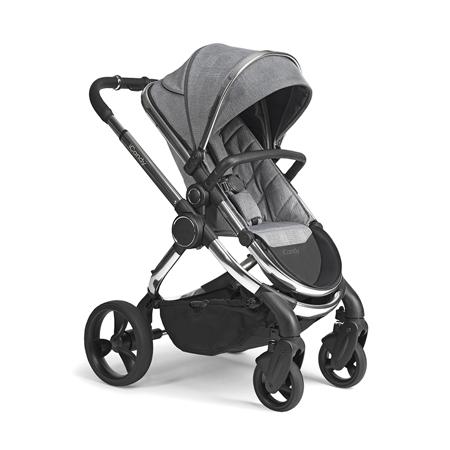 iCandy® Otroški voziček s košaro 2v1 Peach s kromiranim ogrodjem Chrome Light Grey Check Combo