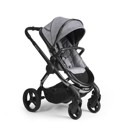 Slika iCandy® Otroški voziček s košaro 2v1 Peach s črnim ogrodjem Phantom Light Grey Check Combo