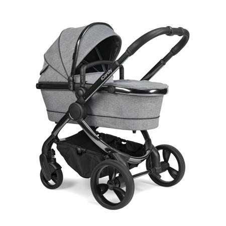 iCandy® Otroški voziček s košaro 2v1 Peach s črnim ogrodjem Phantom Light Grey Check Combo