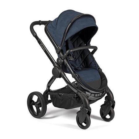 Slika iCandy® Otroški voziček s košaro 2v1 Peach s črnim ogrodjem Phantom Navy Check Combo
