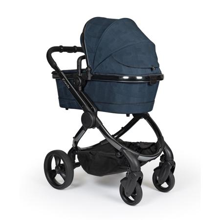 iCandy® Otroški voziček s košaro 2v1 Peach s črnim ogrodjem Phantom Navy Check Combo