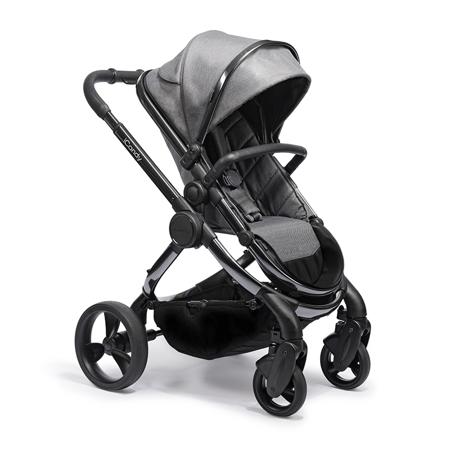 Slika iCandy® Otroški voziček s košaro 2v1 Peach s črnim ogrodjem Phantom Dark Grey Twill