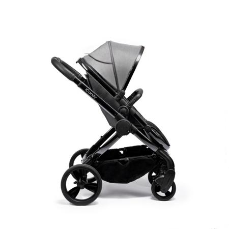 iCandy® Otroški voziček s košaro 2v1 Peach s črnim ogrodjem Phantom Dark Grey Twill