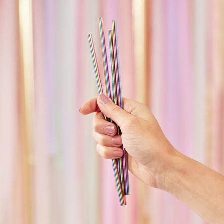 Slika Ginger Ray® Slamice iz nerjavečega jekla Rainbow 5 kosov