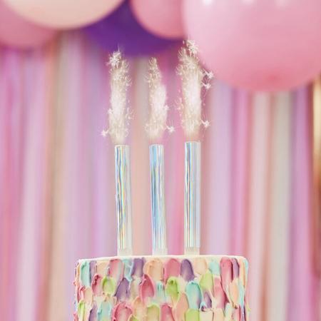 Slika Ginger Ray® Fontana za torto Iridescent 3 kosi