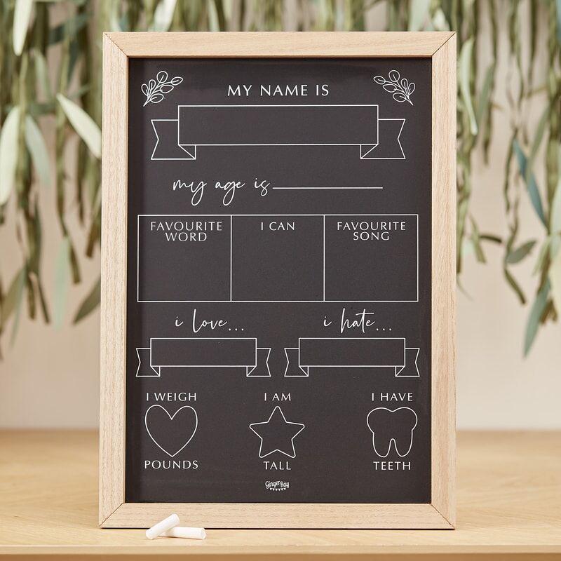 Ginger Ray® Baby Milestone tabla Botanical