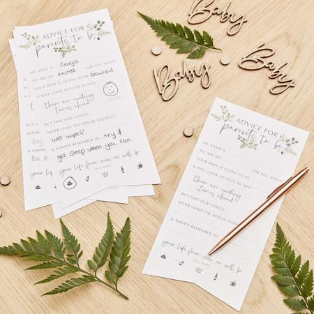 Slika Ginger Ray® Kartice za nasvete Botanical 10 kosov