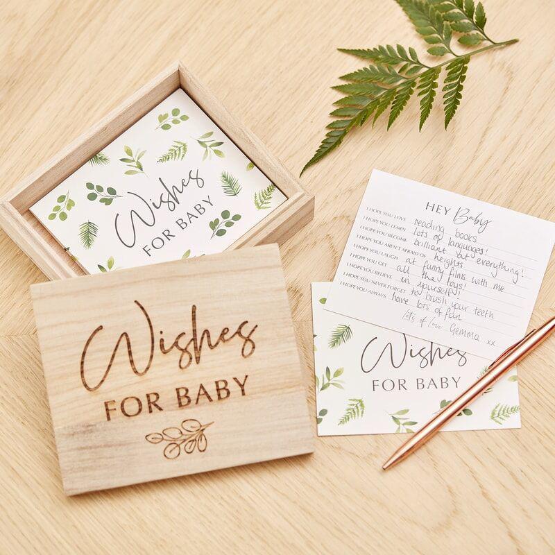 Ginger Ray® Kartice za nasvete v leseni škatli Botanical