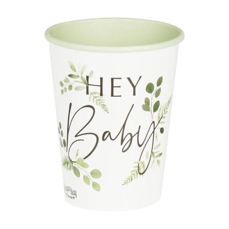 Slika Ginger Ray® Papirnati kozarčki Hey Baby Botanical 8 kosov