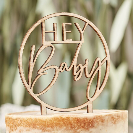 Slika Ginger Ray® Lesen okrasni napis za torto Hey Baby Botanical