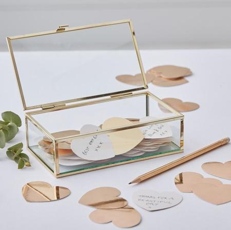 Slika Ginger Ray® Steklena škatlica za shranjevanje Gold