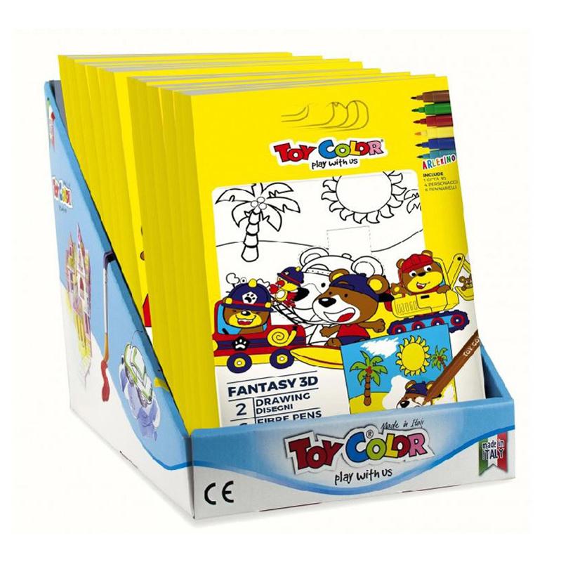 Toy Color® Flomastri in pobarvanka Vozila