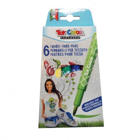Slika Toy Color® Flomastri za tekstil 6 kosov