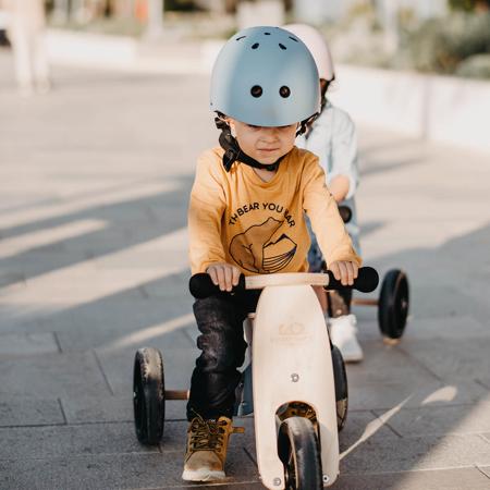 Kinderfeets® Otroška čelada Matte Slate Blue (18+m)