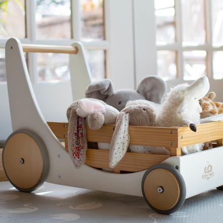 Kinderfeets® Lesen voziček za igrače in urjenje hoje White