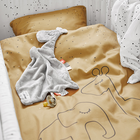 Done by Deer® Posteljnina Dreamy Dots Junior Mustard 100x140